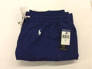 Polo Ralph Lauren Mens All Over Pony Logo Swim Trunks Blue/White Pony Large