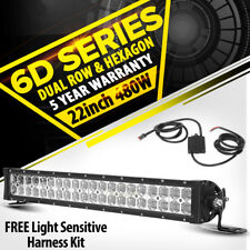 """6D 22INCH 480W PHILIPS LED Work Light Bar Combo Offroad Pickup 4x4WD Jeep 20/23"""""""