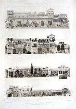 38 ~ HOUSE OF CENTENARY POMPEII Plan Layout ~ 1905 Architecture Design Art Print