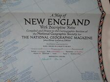 New England National Geographic Large Map June 1955