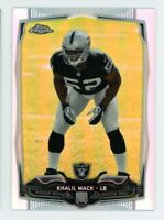 2014 Topps Chrome KHALIL MACK Logo ROOKIE CARD RC REFRACTOR #184 Chicago Bears