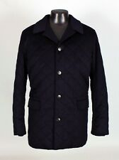 $4450 NWT - LORO PIANA 100% QUILTED CASHMERE  STORM SYSTEM Jacket - Dark Blue M