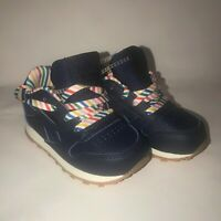 Reebok Classic Leather Navy Gum Kids Infant Toddler Baby Shoes Size 6 no box new