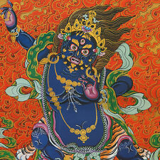 "BUDDHA FORCE AWAKENS! 48"" SILK BROCADED WOOD SCROLL TIBETAN VAJRAPANI THANGKA ="