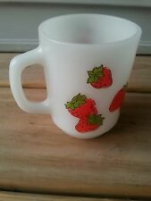 Vintage Strawberry Shortcake Anchor Hocking Glass Mug Cup American Greetings