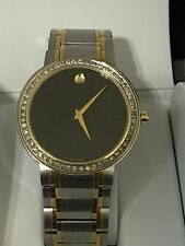 New Men's Movado authentic Stiri 0606193 T.T.0.80ct.Apr.custom set Diamond watch