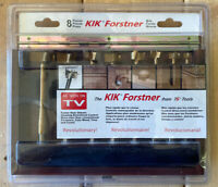 KIK Forstner Bits 8 Pc from TG Tools Wood Case NEW Drill Bits Hole Saw