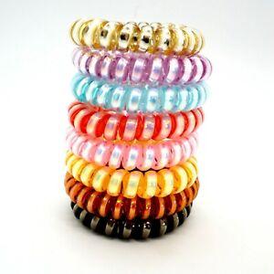 5 PCS Spiral Hair Ties Spiral Coil  Elastics  Hair Band Ponytail-Random colours