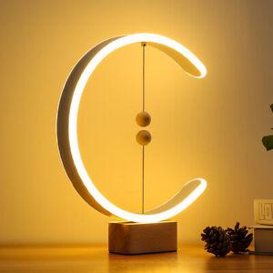 Magnetic LED Heng Balance Lamp Table Light Bedside Desk Night Lamp Art Decor UK