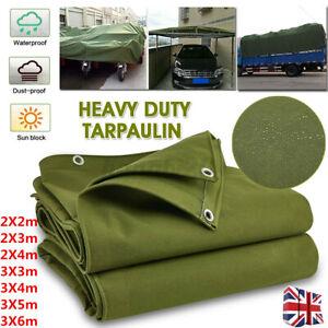 Heavy Duty Canvas Tarpaulin Waterproof Dustproof Boat Truck Cover Multipurpose