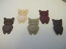 50 Martha Stewart Owls in Browns for Cardmaking or Scrap Booking baby cards