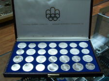 CANADA 1976  STERLING SILVER OLYMPIC COINS  SET **28pcs**  with  BROWN BOX