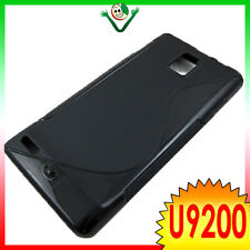 Custodia WAVE NERO per Huawei Ascend P1 U9200 cover aderente flessibile