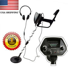 US Waterproof Metal Detector Sensitive Search Gold Digger Hunter Free Headphone