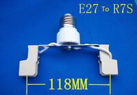 E27 To R7S LED Halogen CFL Bulb Light Lamp Adapter Base Socket Converter Holder