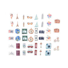 45pcs A person's travel Kawaii paper stickers Diary decoration diy scrapbooking
