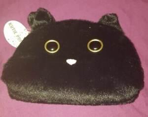 """NEW JELLYCAT KUTIE POPS PLUSH SOFT BLACK CAT ZIP UP PURSE BAG CASE 9"""" X 6"""""""