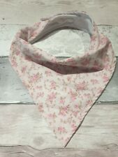 Bandana Dribble Drool Bib for Adults & Teens Special Needs - Ditsy Floral Pink