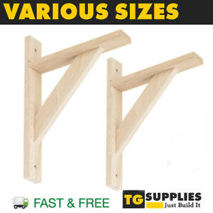 Strengthened Timber Shelf Brackets Wooden Shelf Supports Shelf Fixings Strong