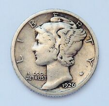 SEMI KEY!! 1926-S MERCURY SILVER DIME ~ FINE CONDITION