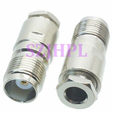 1pce Connector TNC female jack clamp RG58 RG142 LMR195 RG400 cable straight