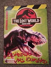 98% Complete Official Jurassic Park The Lost World Merlin Sticker Album Panini