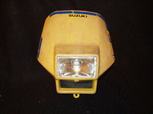 SUZUKI DR 250 DR 350 RMX 250 FRONT HEADLIGHT HEADLAMP COVER #3 Yellow