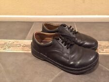 Birkenstock Mens Leather Lace Up Shoe Size 43 Sz 10 US Black Closed Toe Oxford