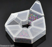 2 Beads Storage Containers W/7 Compartments 9x9x2cm