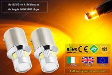 2x LED BA15S P21W 1156 382 207 245 Amber Yellow Indicator Position Bulbs 12v 24v