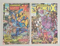 CODENAME: GENETIX ISSUES #1 & #2 MARVEL COMICS 1993 GUEST STARRING WOLVERINE