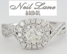 Neil Lane Bridal 0.91 ct 14K Round Diamond Double Halo Twist Engagement Ring