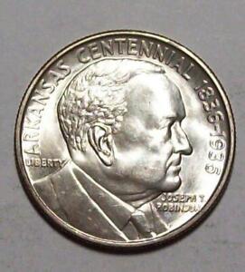 1936 Robinson-Arkansas CENTENNIAL COMMEMORATIVE HALF Dollar VChoice BU #12C50