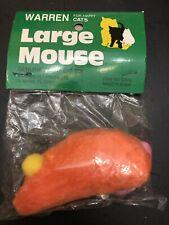Warren Catnip Large Orange Loveable Mouse Cat Toy
