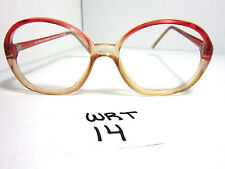f60b1aeb4e9 Vintage 80s AJ Simin Round Eyeglasses Frame Cherry Red Crystal (WRT-14)