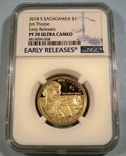 2018 S SACAGAWEA REVERSE JIM THORPE NGC PF69 FIRST DAY OF ISSUE 4856119-007