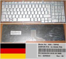 CLAVIER QWERTZ ALLEMAND TOSHIBA P200 NSK-TBP0G 9J.N9282.P0G PK1302602D0 GRIS