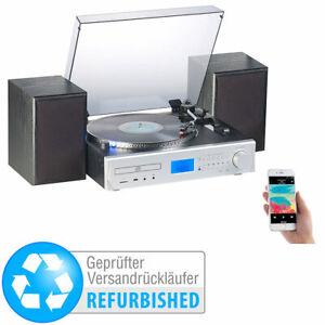 auvisio 5in1-Plattenspieler/Digitalisierer, CD, Bluetooth, Versandrückläufer