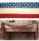 NEW Americana Patriotic FLAG BUNTING BANNER 10 ft long by 20 in wide