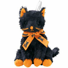 New Ty Beanie Babies Halloweenie Beanies Fraidy Black Cat Halloween Plush Gift