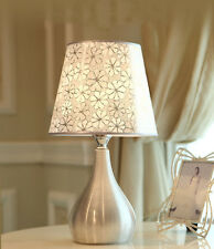 Modern Style Silver Grey Leaves Bedside Desk Lamp Table Lamp Best Wedding Gift
