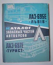 Vintage Catalog Catalogue Bus parts USSR 1965 Laz-695E Lvov, Laz-697E Tourist