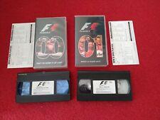 Formula 1 2000 & 2001 Championship Season Review VHS Videos. Formula One PAL
