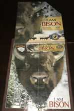Madd Capp I Am Bison Shaped Jigsaw Puzzle 550 Piece American Buffalo Poster