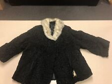 Black Persian Lamb Jacket Size M/Lwith Gray Mink ?Collar
