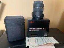 sigma 17-50mm f/2.8 ex dc os hsm for Canon APS-C mount DSLR cameras