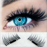 2Pairs 3D Magnetic False Eyelashes No Glue Handmade Natural Extension Eye Lashes