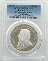 2019 South Africa Krugerrand Silver Proof 1oz Coin PCGS PR70 DCAM FIRST STRIKE