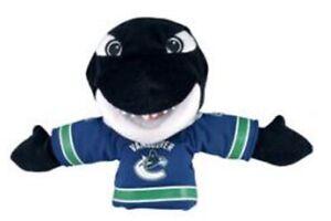 "NHL 8"" Plush Doll Fin Mascot, Vancouver Canucks, Bleacher Creatures"