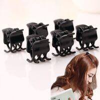 10 Pcs Women Black Plastic Mini Hairpin 6 Claws Hair Clip Hairclip Clamp